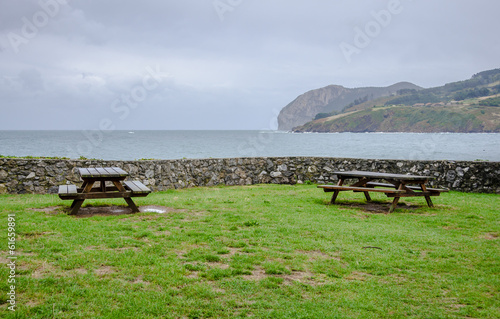 Viewpoint with benches in Mundaka