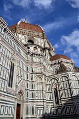 Vista frontal del Duomo de Firenze,Catedral de Florencia.