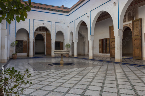 Al Bahia Palace, courtyard, in Marrakesh, Morocco