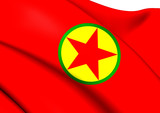 Kurdistan Workers' Party Flag