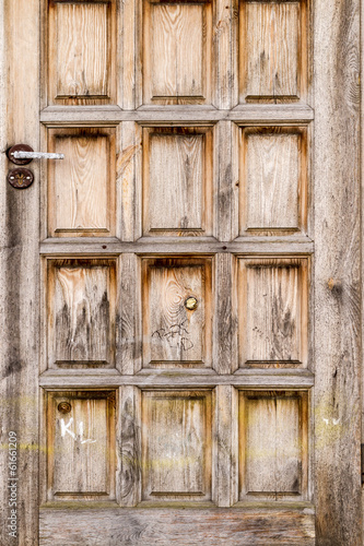 A weathered wooden door - Old wood texture