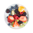 Small dish with assorted fresh fruit