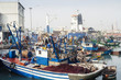 canvas print picture - Casablanca fish Port harbor