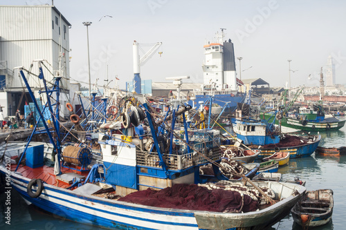 canvas print picture Casablanca fish Port harbor
