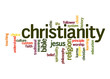 Постер, плакат: Christianity word cloud
