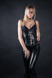 beautiful seductive woman in a corset