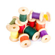 Spools of thread isolated on white background