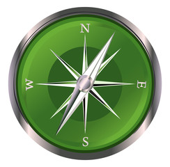 Glossy Compass . Vector Illustration