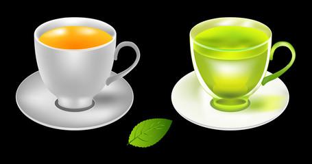 Tea cup vector illustration..