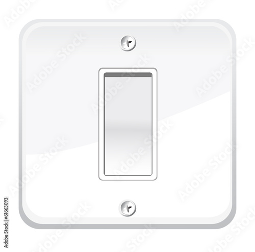 On/Off switch. Vector illustration