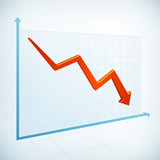 Negative business graph arrow