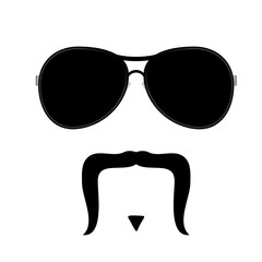 face illustration with mustache vector one