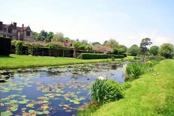 river, Hever castle garden, Kent, England