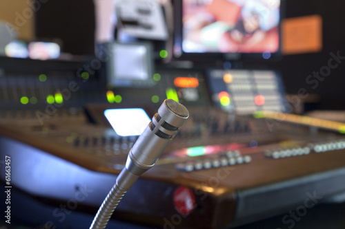microphone on the control panel Poster
