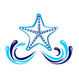 starfish  icon vector  illustration