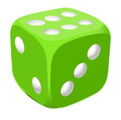 Vector green dice