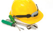 Construction Helmet with screw driver and wrench