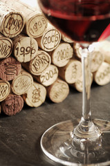 Corks of different wine years