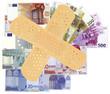 concept euro malade, crise monétaire