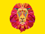 Lion head in geomatric pattern