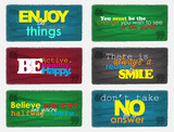 Fototapety Set Of Motivational Quotes.