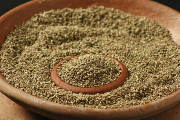 Ajwine or Carom Seeds is an uncommon spice
