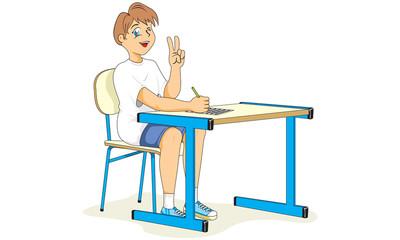 Estudante Postura Correta