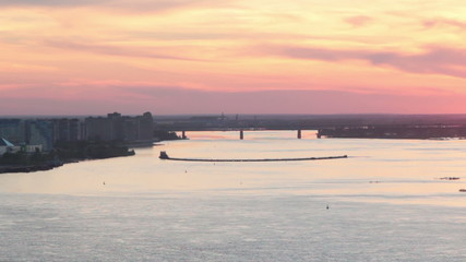 Nizhny Novgorod at sunset