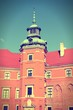 Warsaw - Royal Castle. Cross processed retro color tone.