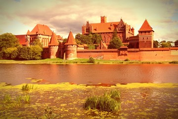 Poland - Malbork. Cross processed retro color tone.