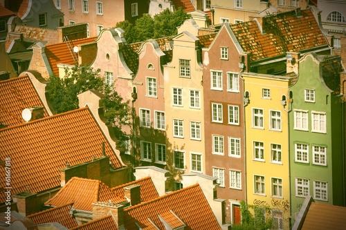 Gdansk, Poland. Cross processed retro color tone.