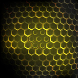 Abstract honeycomb vector background yellow