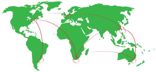 Mappamondo e globalizzazione