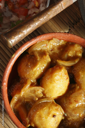 Tamarind Potatoes - Stuffed Potatoes in Tamarind Sauce
