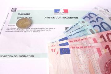contravention à payer