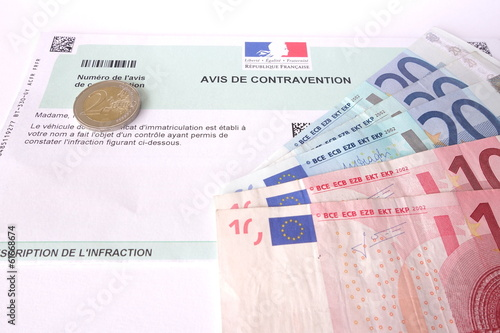 contravention à payer