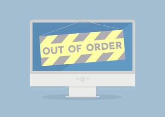 Monitor out of order