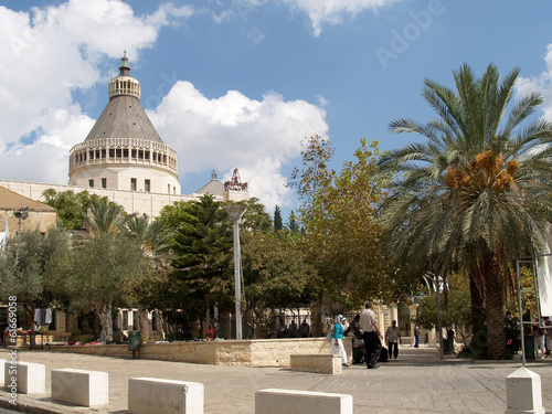 View of the Lady day basilica in Nazareth, Israel