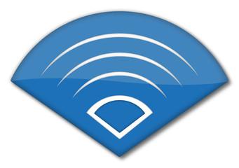Wireless Symbol blau
