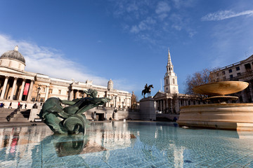 Trafalgar Square in London