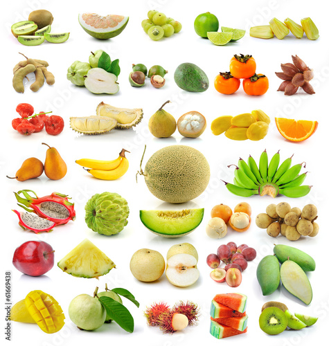 fruit isolated on white background