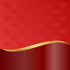 red background with crowns