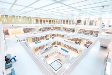Resting in Stuttgart library