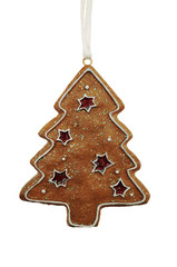 Cute christmas tree decoration on white