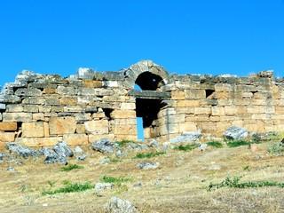 Mur en ruines Hiérapolis Hierapolis