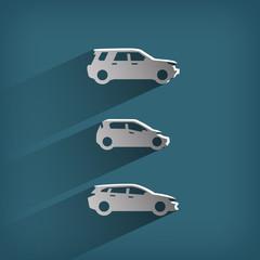 Automobile. Vector format