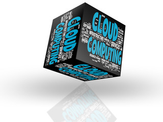 Computing Cloud cube - Clipping Path included
