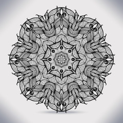 Abstract circle lace ribbon pattern