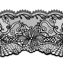 Template frame design for card. Lace Doily.