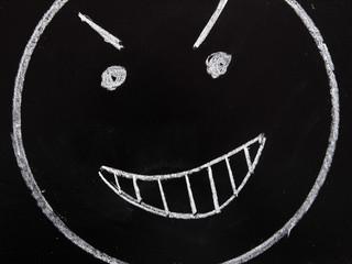 Draw evil face